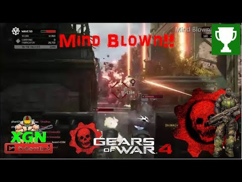 Gears of War 4 How to unlock Mind Blown Achievement, Inconceivable Horde gameplay!