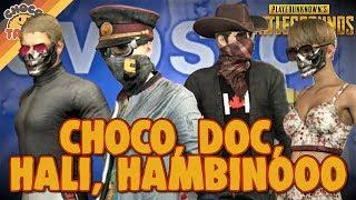 M249 Squad Clutch ft. DrDisrespect, Halifax, & Hambinooo - chocoTaco PUBG Gameplay