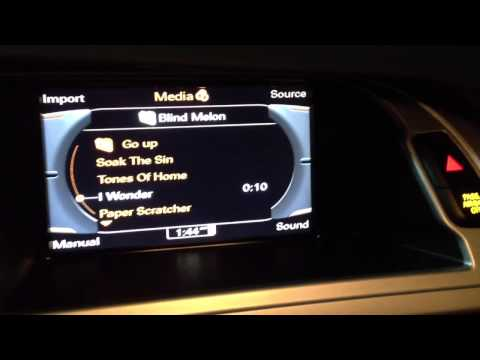 Custom Audi AMI Aux Cable - Installation Video - MMI 3G A2DP Bluetooth Streaming