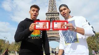 1 TAG MIT 10€ IN PARIS ÜBERLEBEN !!! | PrankBrosTV