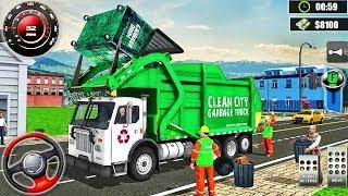 Garbage Truck Driving Simulator 2020 - Trash Transport City Cleaner - Android GamePlay screenshot 2