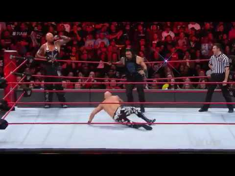 Roman Reigns vs. Luke Gallows & Karl Anderson -2-on-1 Handicap Match:Raw, Feb. 20 , 2017