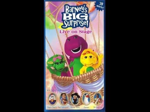 Barney's Big Surprise! Live On Stage 2000 VHS