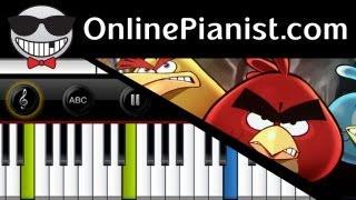 How to play Angry Birds Main Theme Piano Tutorial