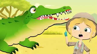 Dalia The Crocodile Visits Dr Poppy On Safari | Cartoon Animals For Kids