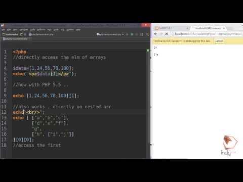 PHP 5.5 New Feature Tutorial: Dereferencing  Array directly and String Literal
