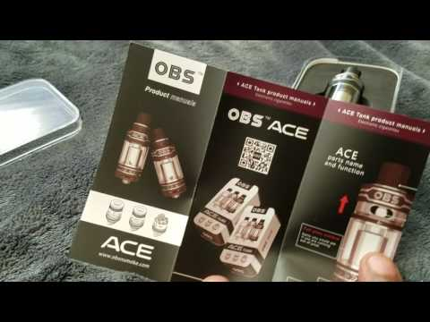 OBS ACE Tank Quick Look At ceramic coil head and rba