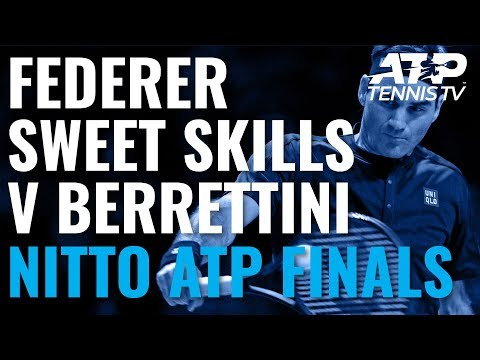 Roger Federer Sweet Skills in Win vs Berrettini! | Nitto ATP Finals 2019