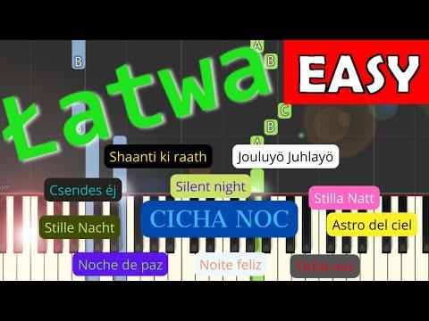 🎹 Cicha noc (silent night) - Piano Tutorial (łatwa wersja) (EASY) 🎹
