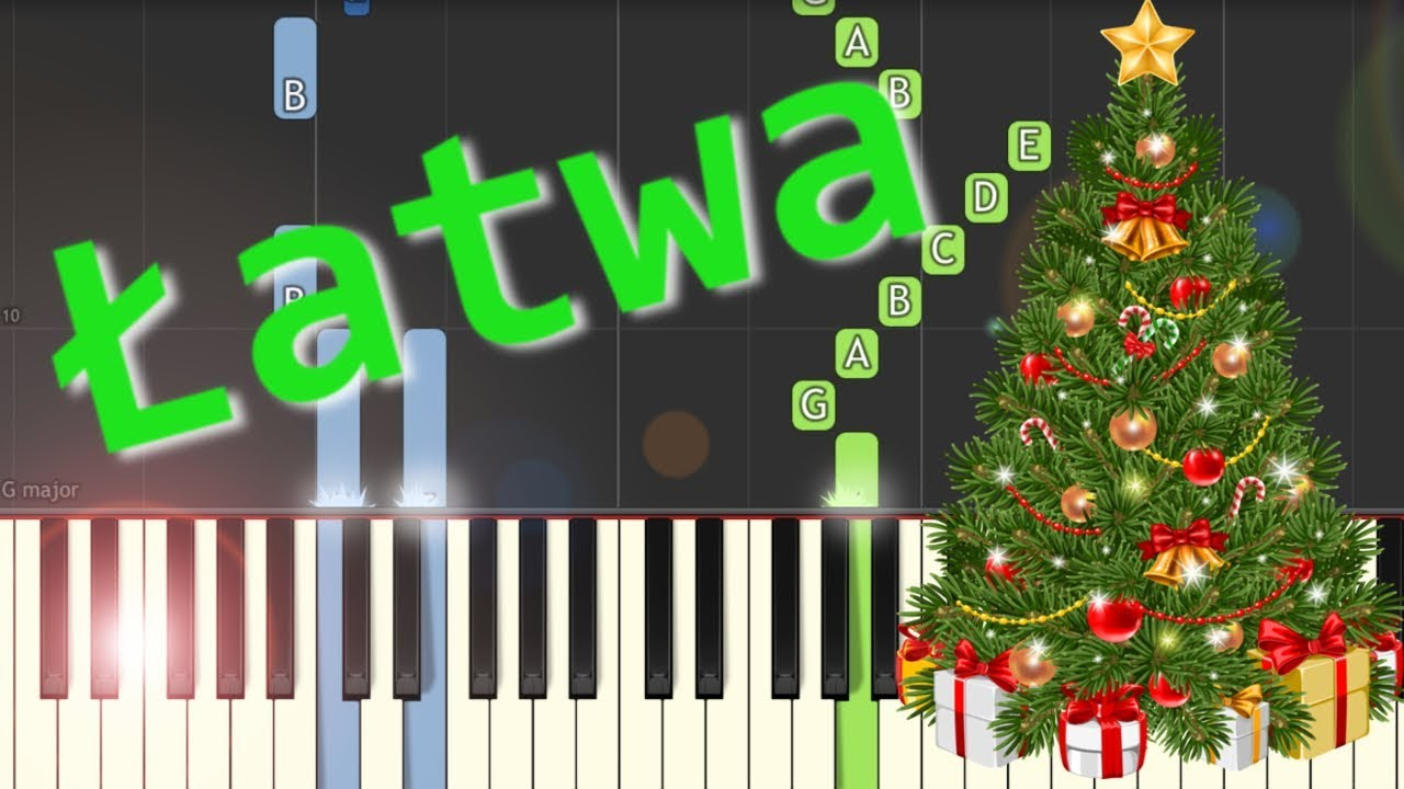 ???? Cicha noc (silent night) - łatwa synthesia (EASY) ????