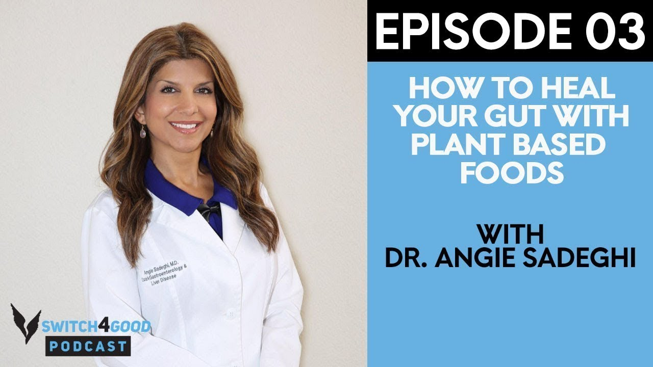 Dr Angie Sadeghi - How to Heal Your Gut With Plant-Based Foods  Switch4Good  Podcast Episode 03