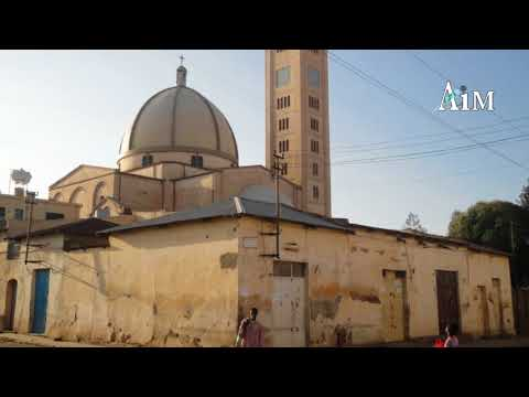 Eritrea: Urban decay - Asmara around Kidane Mihret Catholic Church