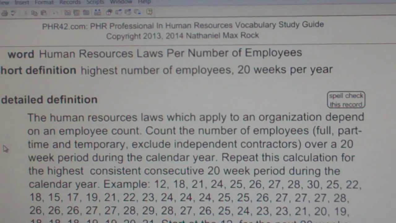 Hr laws apply based on number of employees phr sphr human hr laws apply based on number of employees phr sphr human resources license exam vocabubee xflitez Images
