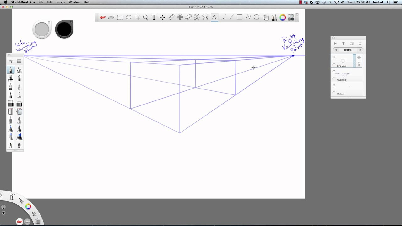 How to create grid in sketchbook pro - Intro To Two Point Perspective In Sketchbook Pro 6