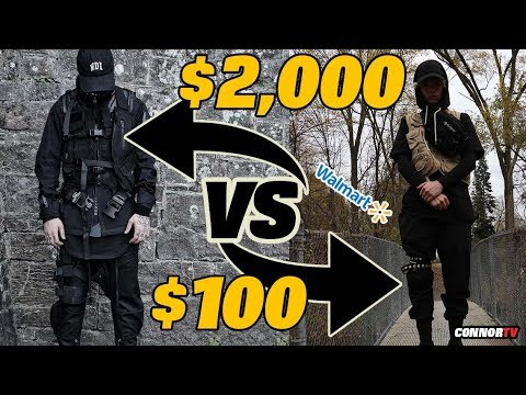 $2,000 vs $100 Techwear Outfit Challenge DIY at Walmart
