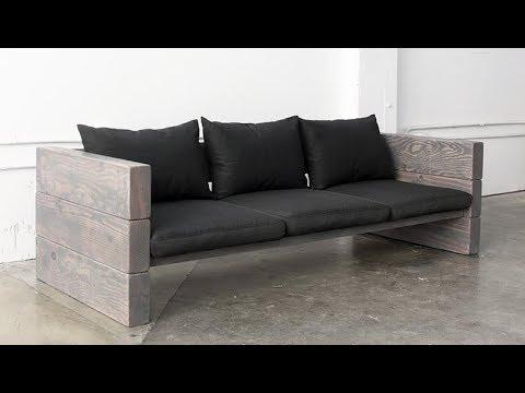 Faça você mesmo um sofá de madeira bom e barato - YouTube