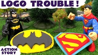 batman superman play doh stop motion logo trouble thomas and friends toys with joker and penguin