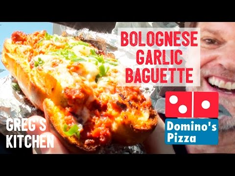DOMINO'S BOLOGNESE GARLIC BAGUETTE - Fast Food Friday Food Reviews - Greg's Kitchen