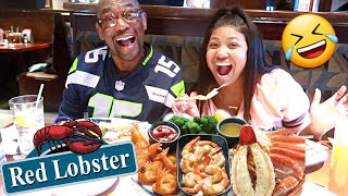 Vlogmas Day 20 | Red Lobster w/ My Parents MUKBANG!