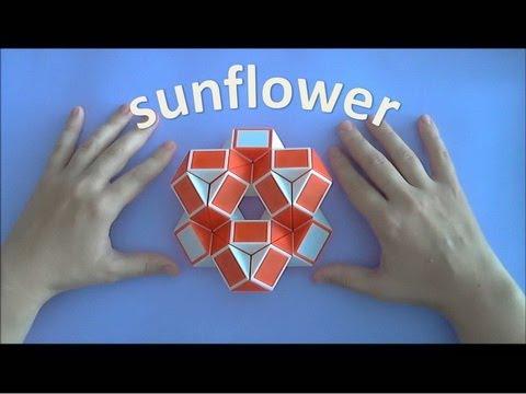 КАК СДЕЛАТЬ подсолнух из змейки РУБИКА / TUTORIAL / How To Make A  Sunflower