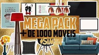MEGA PACK +DE 1000 MÓVEIS: Especial de 100 inscritos     THE SIMS 4     POR TAMI SAOPS