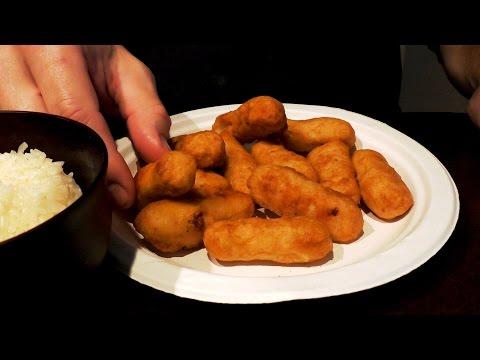 ASMR: Eating Chicken Tenders & Sticky Rice