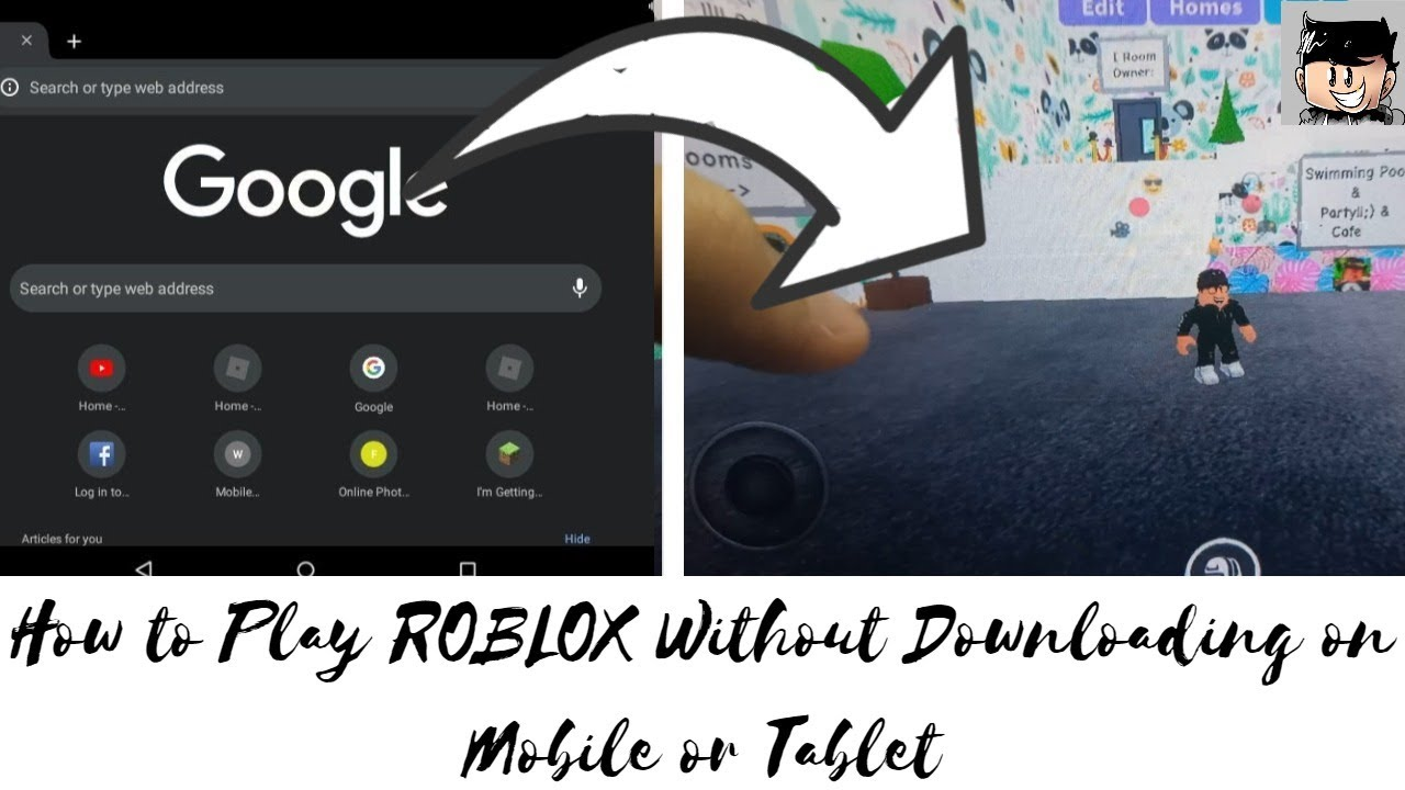 How To Play Computer Excluisive Roblox Games On Mobile How To Play Roblox Without Downloading On Mobile Or Tablet Dude Gaming Youtube