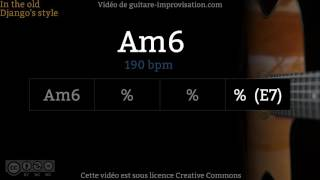 Am6 (190 bpm) : Gypsy jazz Backing track / Jazz manouche