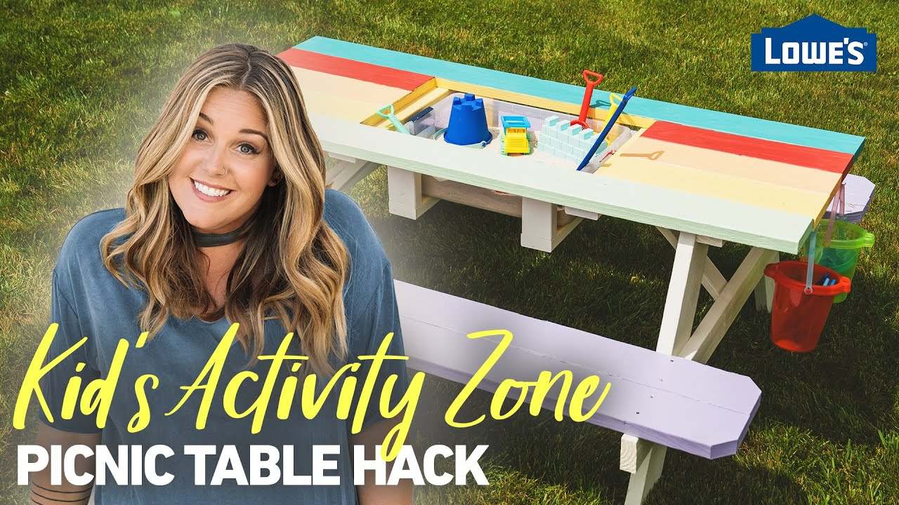 Picnic Table Hacks: Kids' Activity Zone