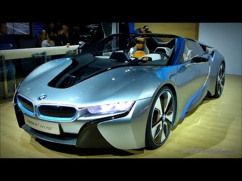 Bmw I8 Spyder Concept Goes Topless Exterior And Interior Footage
