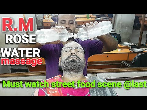 Fore head and face massage by Reiki Master with Rose water (Must watch behind scenes)