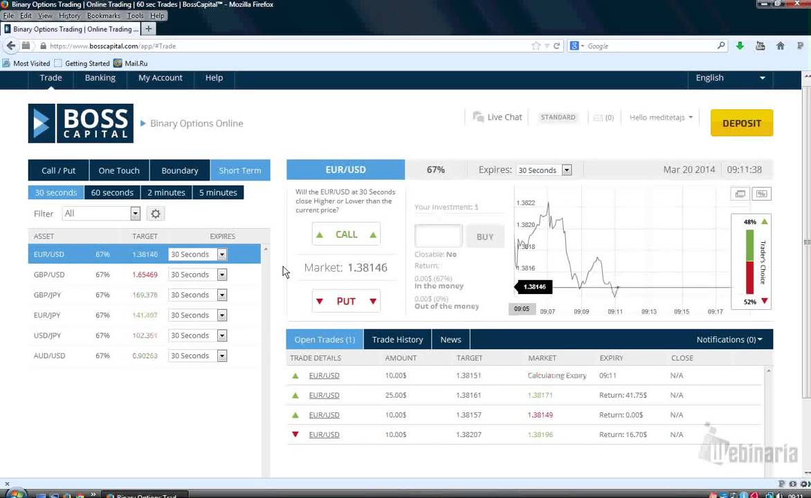Binary option 30 second strategy
