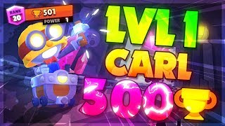 LEVEL 1 CARL 500 TROPHIES! Brawl Stars Best Tips u0026 Tricks