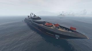 Ep82 Aquarius Super Yacht Intrepid Paint Job & Gold Lights! - Let's Play GTA 5 Online PC 1080p HD