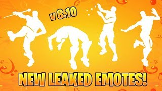 FORTNITE NEW LEAKED EMOTES! v8.10 (Drum Major, Slap Happy, Raining Doubloons, Spring-Loaded..)