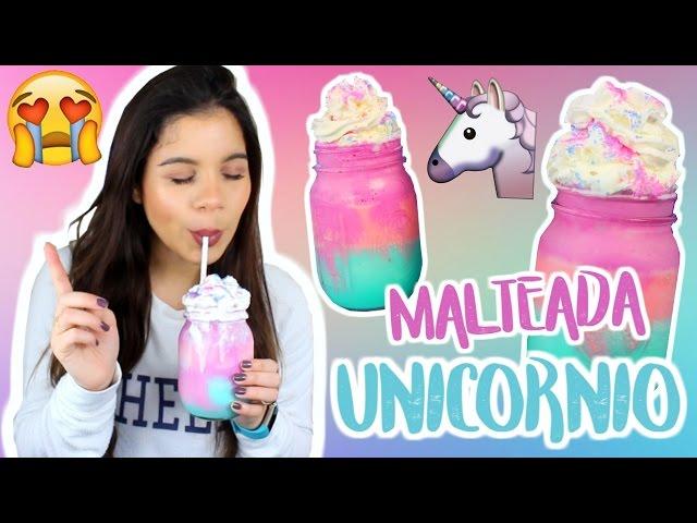 Malteada De Unicornio SUPER FACIL   Alejandra Avila