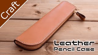 Making Mini Pen Case for Leather ~ Making a Mini Leather Pencil Case # LeatherAct EP 4