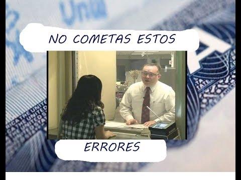 Errores comunes en la entrevista para visa americana