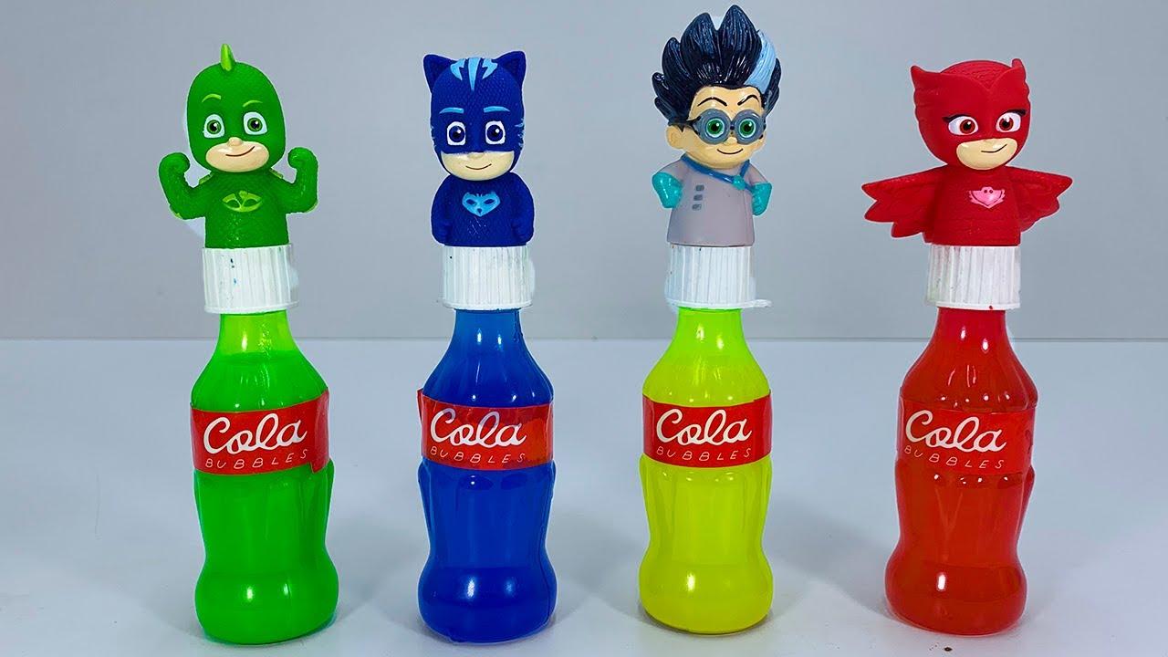 pj masks Coca-Cola multicolored bottles