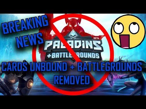 PALADINS - GAME BREAKING NEWS! Cards Unbound + Battlegrounds verschwinden WIEDER #CancelOB64!