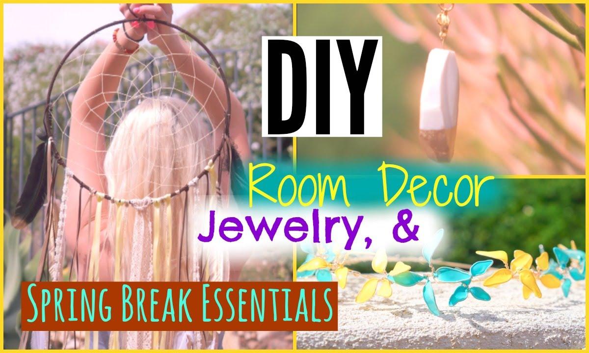Diy Tumblr Room Decor Jewelry Spring Break Essentials Youtube