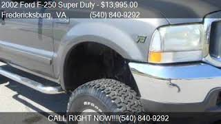 2002 Ford F-250 Super Duty XLT 4dr Crew Cab 4WD SB for sale