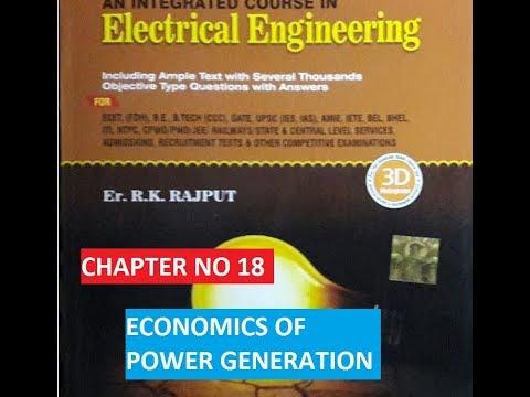 ECONOMICS OF POWER GENERATION !! RK RAJPUT !! IMPORTANT MCQs QUESTIONS !!