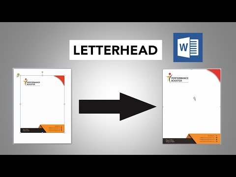 How To Insert Letterhead In MS Word With Full Width And Height