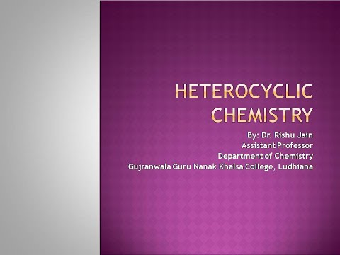 Lecture 1, Heterocyclic Chemistry: Aziridine