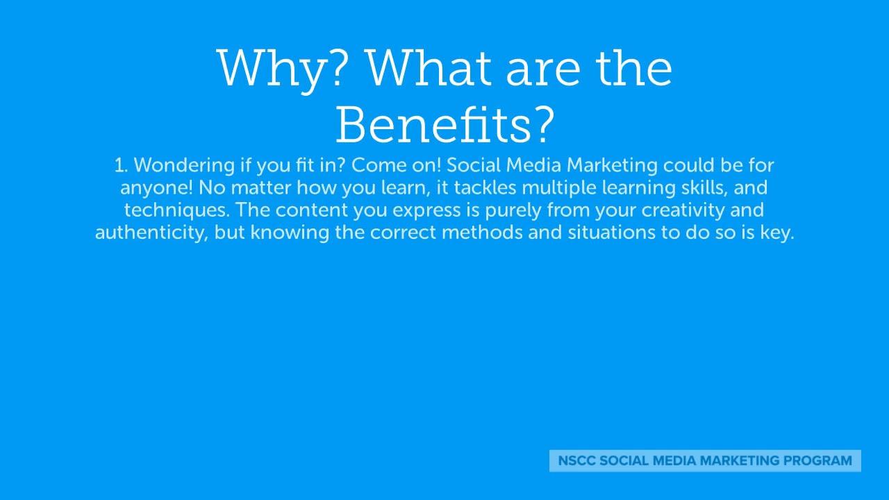 Nscc Social Media Marketing Certificate Program Youtube