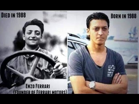 Crazy Mesut özil And Enzo Ferrari Coincidence Youtube