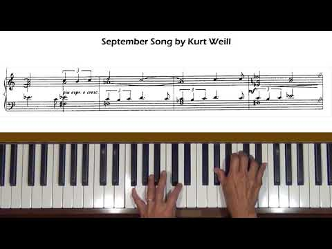 September Song by Kurt Weill Piano Solo Cover