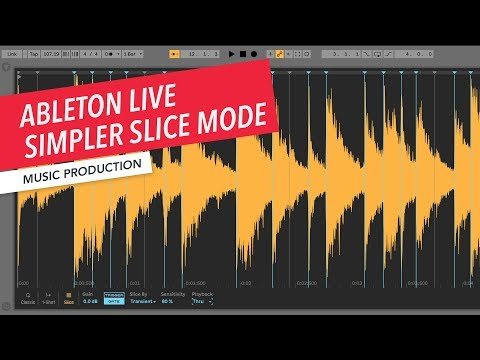 Ableton Live: Exploring Simpler Slice Mode | Non-Linear Creative Strategies | Sampling