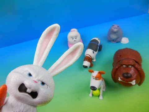 THE SECRET LIFE OF PETS 2016 SET OF 6 BURGER KING KIDS MEAL MOVIE TOYS VIDEO REVIEW